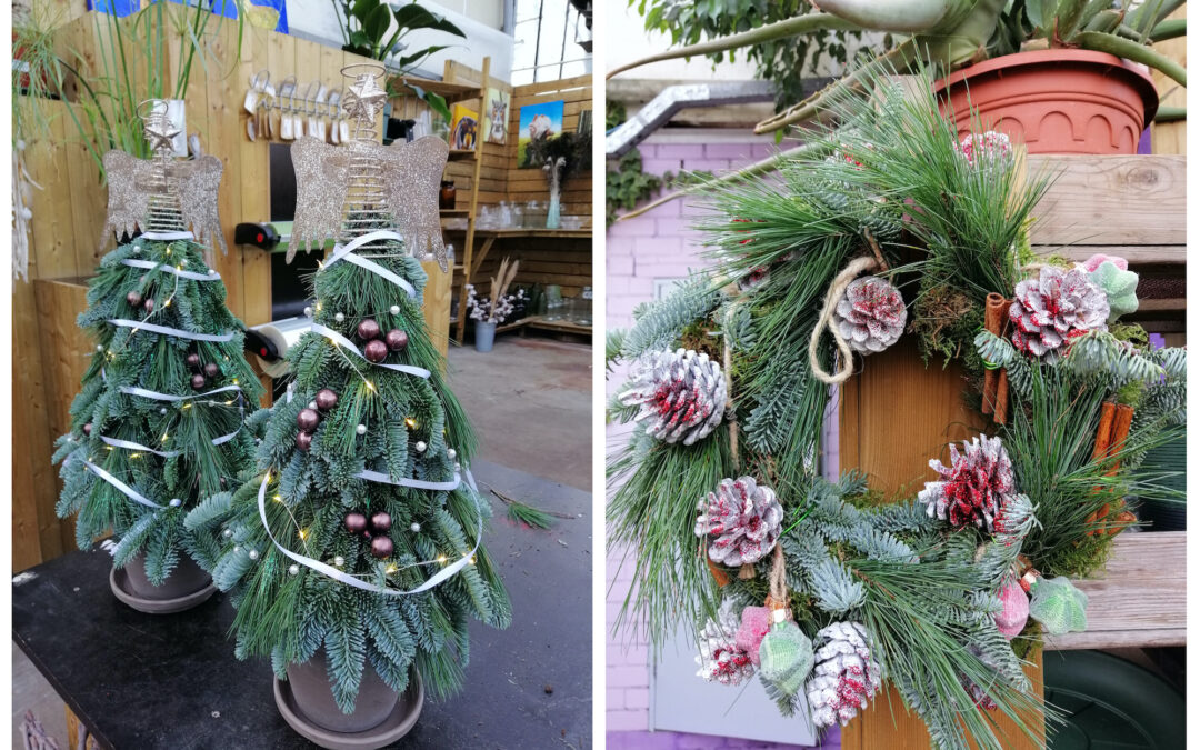 DIY groen decoratie voor de kerst